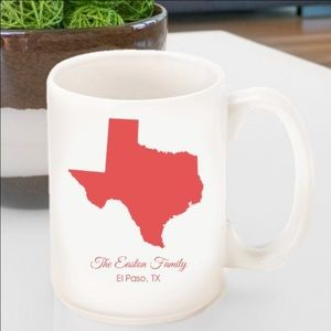 Personalized State Coffee Mug